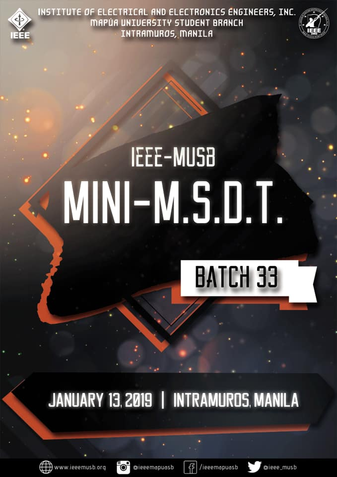 Batch 33 Mini-MSDT