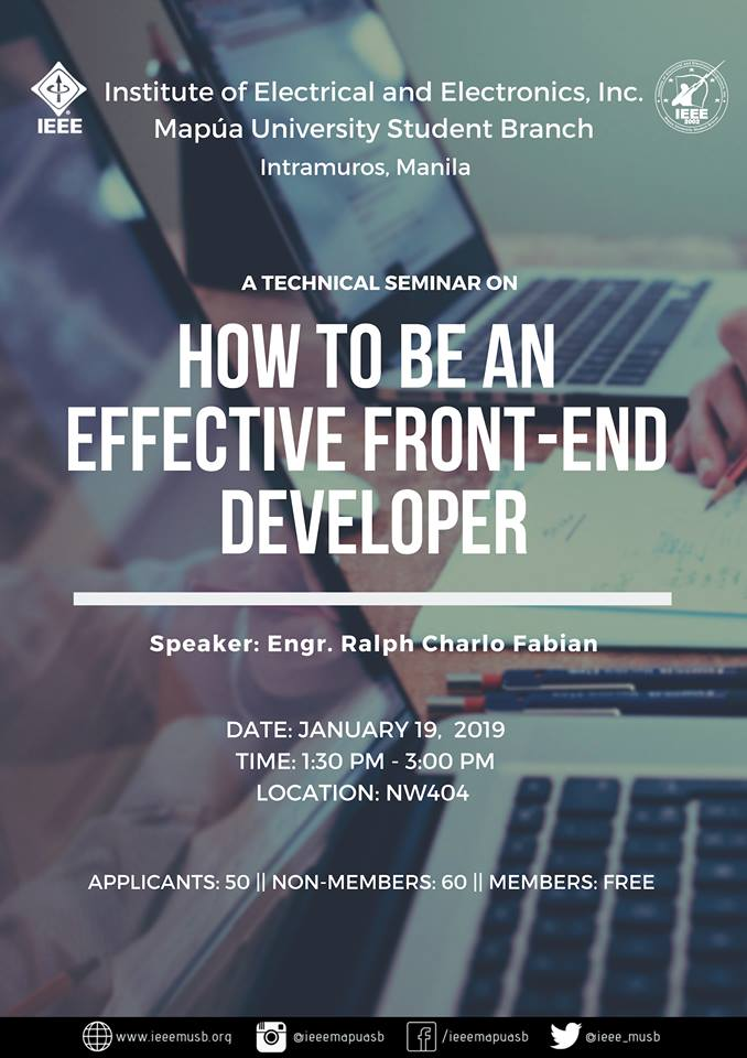 How to be an Effective Front-End Developer